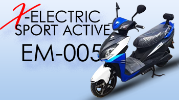 ELECTRIC SCOOTER SPORT ACTIVE OPAI 72V 3000W EM-005 BLACK/RED/BLUE