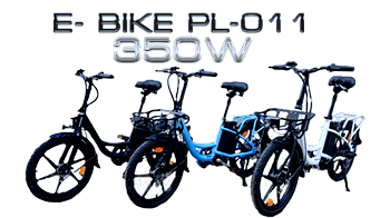 Electric Scooter-bike E- BIKE PL-011 350W 3 colors blue ,white and black