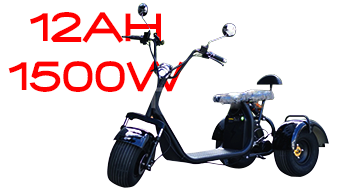 Electric scooter BIG CITY HARLEY TS 600-3 + 60V 12AH 1500W